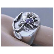 Ring  Sterling Silver  Natural Kyanit Ring ғʀᴇᴇ sʜɪᴘᴘɪɴɢ