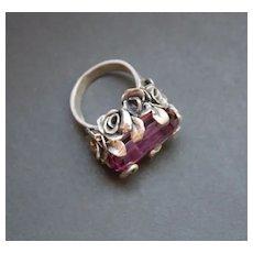 Sterling Silver Ring Lab Corundum Color Change Alexandrite Ring ᴏɴᴇ ᴏғ ᴀ ᴋɪɴᴅ ғʀᴇᴇ sʜɪᴘᴘɪɴɢ