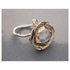 Ring  Sterling Silver  Moonstone Ring ғʀᴇᴇ sʜɪᴘᴘɪɴɢ