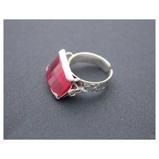 Ring  Sterling Silver  Red Topaz Ring ғʀᴇᴇ sʜɪᴘᴘɪɴɢ