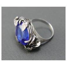 Ring  Sterling Silver  Tanzanite Quartz Ring ғʀᴇᴇ sʜɪᴘᴘɪɴɢ