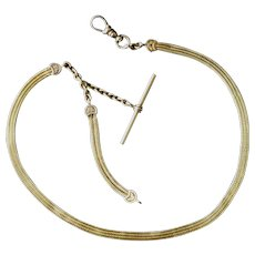 Antique 14k Yellow Gold Mesh Watch Chain