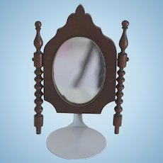 Antique Pysche Style Miniature Swivel Mirror for French fashion