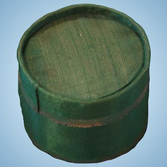 Charming Miniature Silk Hat Box