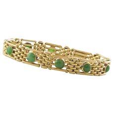 Custom Made 20K Yellow Gold and Jade Bracelet