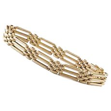 15K Rose Gold Gate Bracelet