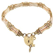Yellow and Rose Gold Gate Bracelet
