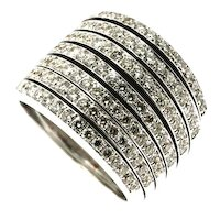 Vintage 18KT White Gold and Diamond Ring