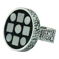 Vintage Modernist Walter Schluep Silver Ring