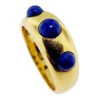 Vintage 18KT Yellow Gold Lapis Lazuli Ring