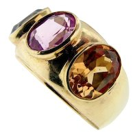 Vintage Gorgeous 14KT 3-Stone Ring