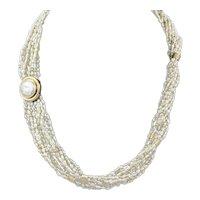Vintage Keshi Pearl 14KT Gold Necklace