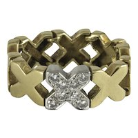 Vintage Tiffany & Co. Flexible 'X' Ring
