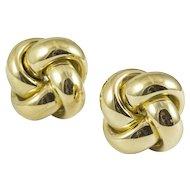 Vintage 18K Yellow Gold Love Knot Earrings