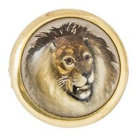 Vintage Essex Crystal Lion Brooch