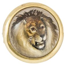 Vintage Essex Crystal Lion Brooch