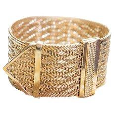 18K Yellow Gold Strap Bracelet