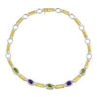Vintage Italian Gemstone Necklace