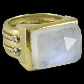 Vintage Custom Made Moonstone Ring