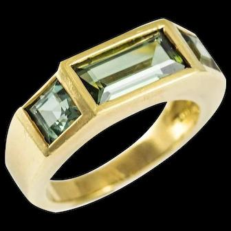 Tiffany & Co. Paloma Picasso Green Tourmaline Gold Ring