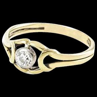 Vintage Yellow Gold Diamond Ring