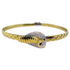 Vintage Italian 18KT Gold Cobra Bracelet