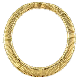 Vintage Flexible Italian Yellow Gold Necklace
