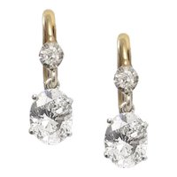 Vintage 2ct Diamond Drop Earrings.