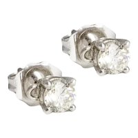 Petite White Gold Diamond Studs