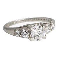 Birks .75 tw Diamond and Platinum Ring.