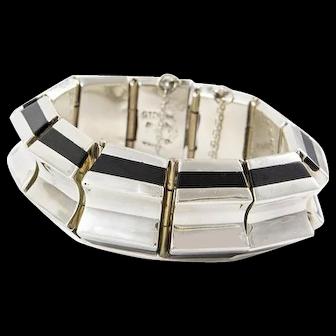 Balderas Taxco Sterling Onyx Bracelet