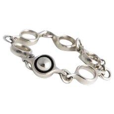 Vintage Georg Jensen 'Sphere' Silver Bracelet.