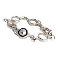 Vintage Silver Georg Jensen 'Sphere' Bracelet.
