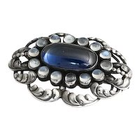Georg Jensen Moonlight Blue Brooch