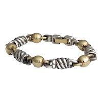 Walter Schluep Silver & Gold Bracelet