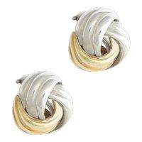 Tiffany Gold & Silver Love Knot Earrings