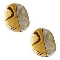 Michael Dawkins Gold and Silver Earrings