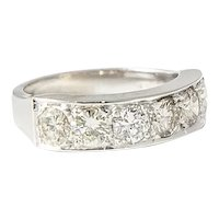 White Gold & Diamond Demi Band