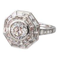 Stunning Tiffany Platinum 2.59CT Diamond Ring