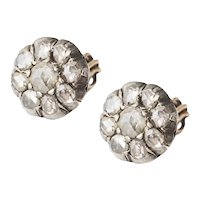 Antique Rose Cut Diamond Studs