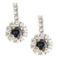 Petite Diamond & Sapphire Earrings