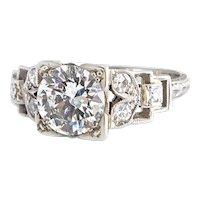 Art Deco 1.32CT Diamond Ring