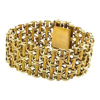 Hungarian Custom Made 14K Yellow Gold Bracelet