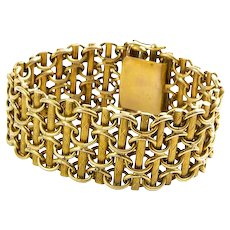 Hungarian Custom Made 14K Yellow Gold Bracelet