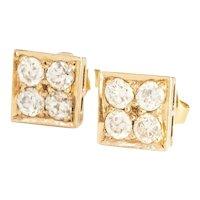 Petite Yellow Gold Diamond Earrings