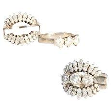White Gold Diamond Ring with Jacket