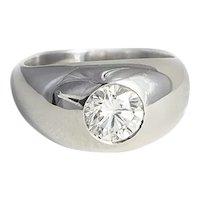 18kt White Gold 1.55ct. Diamond Ring.