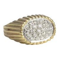 Custom Made Retro Diamond Ring
