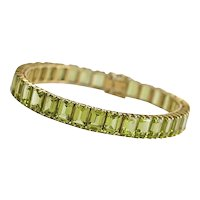 14Kt. Yellow Gold Peridot Bracelet