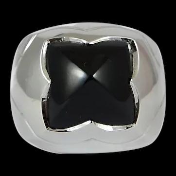 Bvlgari 18kt. Onyx Pyramid Ring